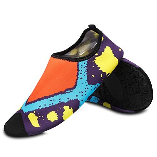 Beach Shoes Diving Sneakers Qianliuk Girls Women Orange Socks Light Shoes Water Swimming Sport FwI0pqE