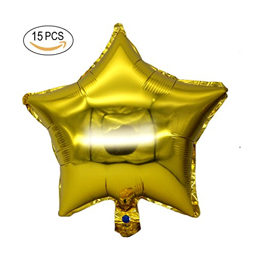 Jinzan online in the uae abu dhabi dubai sharjah and northern 15pcs 18 five star shape foil balloons mylar balloons for graduation party supplies birthday party junglespirit Image collections