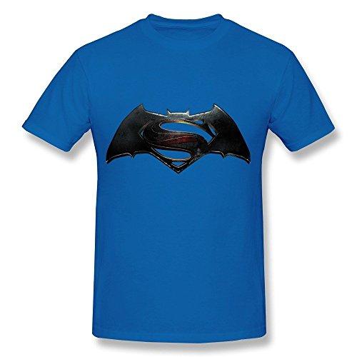 Price comparison product image HD-Print New Design Batman V Superman Dawn Justice Tshirt For Man RoyalBlue Size S