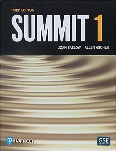 listening answer key summit 1b