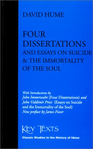 Four Dissertations and Essays on Suicide and the Immortality of the Soul pdf