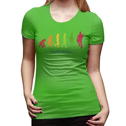 Burton Edith Guitar Player Evolution Guitarist Musician Women's Short Sleeve T Shirt Color Green Size 33