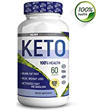 BHB Keto Capsules | Advanced Weight Loss Supplement | Ketogenic Carb Blocker and Natural Appetite Suppressant | Promotes Focus, Energy, Fat Burning/ 60 Keto Pills