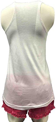 Clothing Direct - Pijama - para mujer White & Pink
