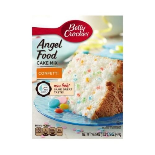 Betty Crocker Angel Food Confetti Cake Mix, 16.75 Ounce - 12 per case.