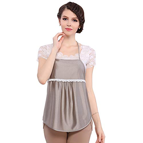 (Double Layer Textile Radiation Protection Vest Anti-Electromagnetic Radiation Maternity Clothes 100% Silver Fiber Shielding Radiation of Household Appliances Pregnancy Protection Apron)