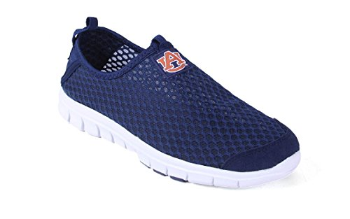 Comfy Feet Happy Feet Mens and Womens Officially Licensed NCAA College Mesh Shoe Auburn Tigers Mesh Shoe