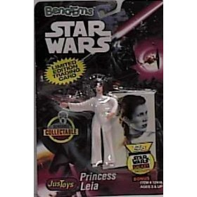 Star Wars Bend-Ems Princess Leia Figure with Limited Edition Trading Card by Star -