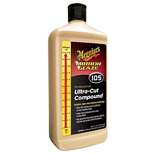 Meguiar S M10532 Mirror Glaze Ultra Cut Compound 32 Fluid Ounces