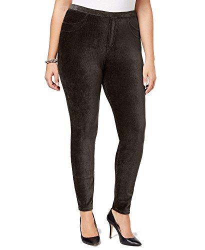 Style & Co. Womens Plus Corduroy Curvy Leggings Brown ()