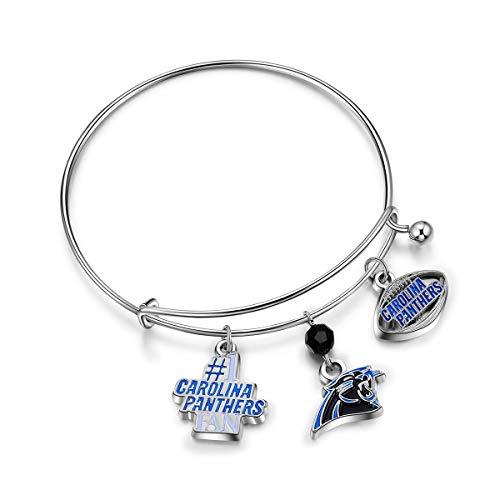 NFL Carolina Panthers Three Charm Logo Bracelet -