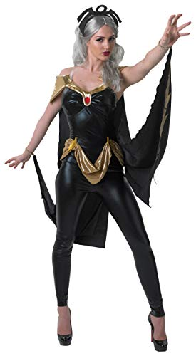 Secret Wishes Women's Marvel Universe Secret Wishes Storm Costume Cat Suit and Mask, Multicolor,