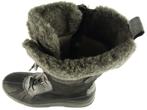 Black Boots Lined Fur Warm Leather Winter Tamaris xgqfTCzE