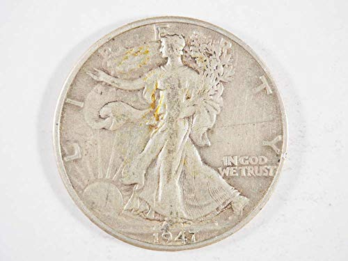 1947 D Walking Liberty Silver Half Dollar Half Dollars Ungraded - Grading Walking Liberty Half Dollars
