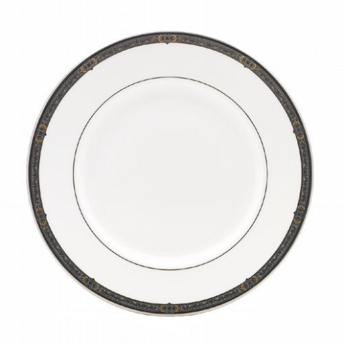 (Lenox Vintage Jewel Platinum Banded Bone China Dinner Plate)