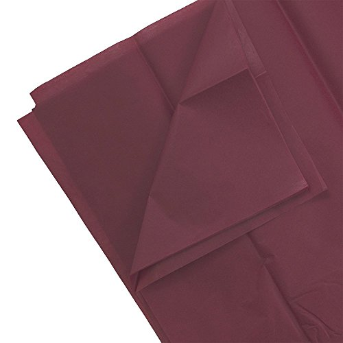 JAM PAPER Tissue Paper - Burgundy - 10 Sheets/Pack