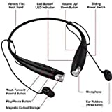 ZAUKY HBS-730 Neckband Bluetooth Headphones Wireless Sport Stereo Headsets Hands-free with Microphone for Android (Black & Green)