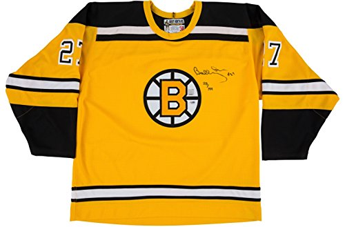Bobby Orr Signed Jersey - Bobby Orr Signed Boston Bruins Replica Rookie Jersey LE 118/144 PSA I73596