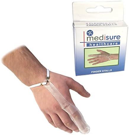 Medisure Ersthilfe-Fingerschutz, verstellbar, wiederverwendbar, transparent, PVC, Größe L