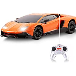 Kids RC Car - Angel Kiss Wireless Remote Control Electric Car - 1/18 Scale Sport Racing Cars for Boys and Girls - Orange