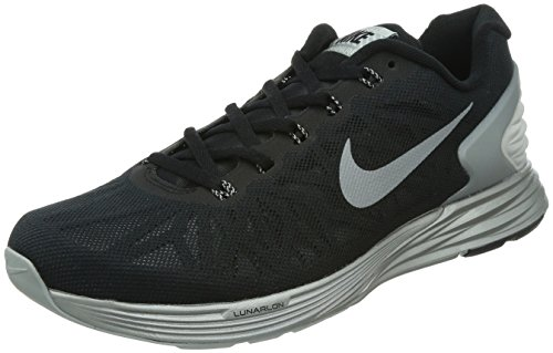 Nike Lunarglide 6 Flash - - Hombre Black/reflect silver 001
