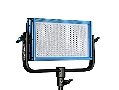 Dracast DRPL-LED500-BV/G LED500 PLUS Series Bi-Color Adjustable with V-Mount, Gold Mount Battery Plates (Blue)