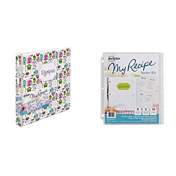 amazon com avery my recipe binder with my recipe starter kit