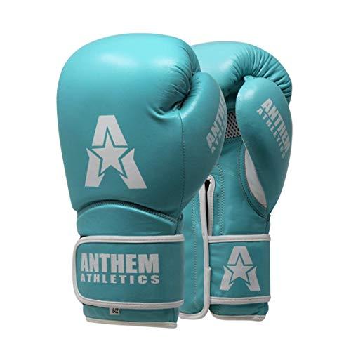 (Anthem Athletics STORMBRINGER II Leather Boxing Gloves - Muay Thai, Kickboxing, Striking - Tiffany Blue - 12 oz.)
