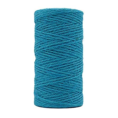Newtrend 300 feet Nature Jute Twine for DIY Craft, Packing, Decoration and Gardening, 3Ply Durable String and Eco-Friendly (Blue) : Office Products