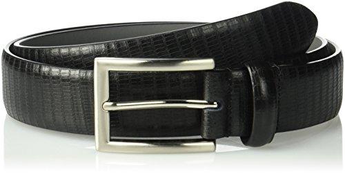 Stacy Adams Embossed Belt (Stacy Adams Men's 32mm Genuine Leather Lizard Embossed Belt, black,)