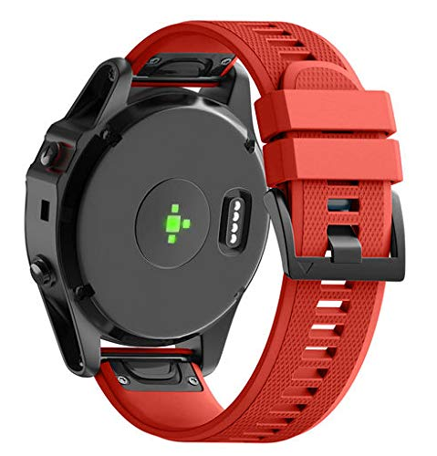 Lyperkin Compatible with Garmin Fenix 5X GPS Watch Band, Fashion Soft Silicone Quick Releas Kit Watch Strap Replacement Buckle Strap Wristband Watch Band Wrist Strap, Easy Fit - Multicolor