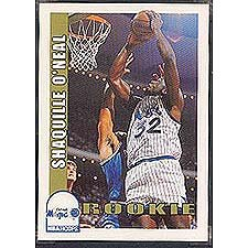 Shaquille Oneal 199293 Hoops Near Mint To Mint Rookie Card