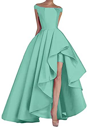 Renees Bridal Women's 2018 High Low Prom Dresses Long Evening Gowns Cap Sleeves Mint Size 26W