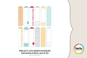 Project Life Month Dividers - Clementine Edition