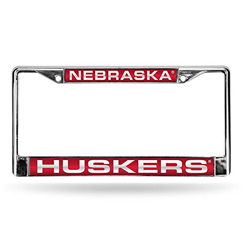 Rico Nebraska Cornhuskers Official NCAA 12 inch x 6 inch Metal License Plate Frame Industries
