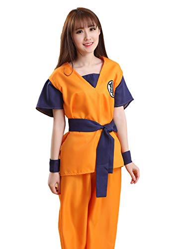 SSJ Dragon Ball Son Goku Style [M L XL] Anime Cosplay Costume (M, Turtle Mark)