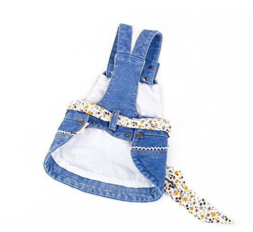 KTYX Puppy Dog clothes Teddy Bomeibi Bear Yorkshire Small Dog Bullfighting Pet Summer Dress Thin Section Princess Dress Summer pet clothes (Size : S) by KTYX (Image #1)