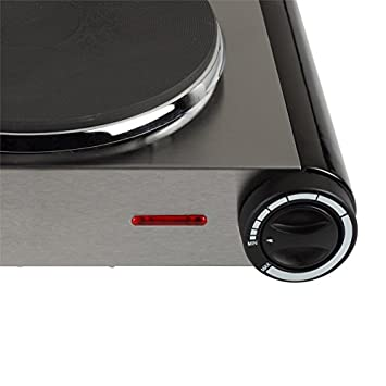 Kochplatte Plaque de cuisson vitroc/éramique dappoint 1er Kochfeld 1,5KW silber