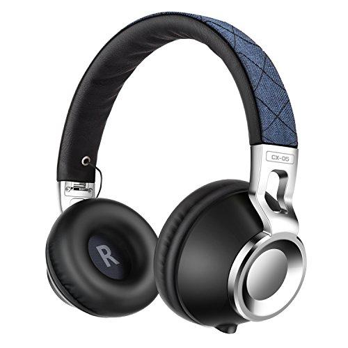 Sound Intone CX05 HIFI Kopfhörer Stereo Headset Bass Mode-Design Faltbarerunverknoteter mit Mikrofon für Smartphone, Ipod, Ipad, PC(Blau)