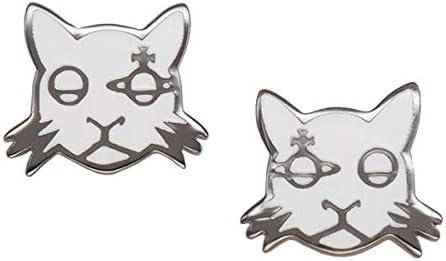 Vivienne Westwood ヴィヴィアン ウエストウッド ピアスKAT EARRINGS RUTHENIUM WHITE 62010028-S119 猫 ねこ ネコ [並行輸入品]