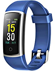 FITFORT Fitness Tracker with Blood Pressure HR Monitor - 2019 Upgraded Activity Tracker Watch with Heart Rate Color Monitor IP68 Pedometer Calorie Counter and 14 Sports Tracking for Women Kids