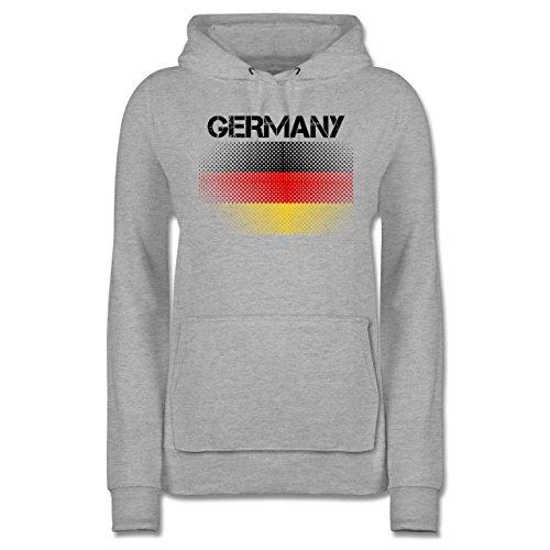 Shirtracer Fußball-Weltmeisterschaft 2018 - Germany Flagge - Damen Hoodie Grau Meliert kbEjLupRyD