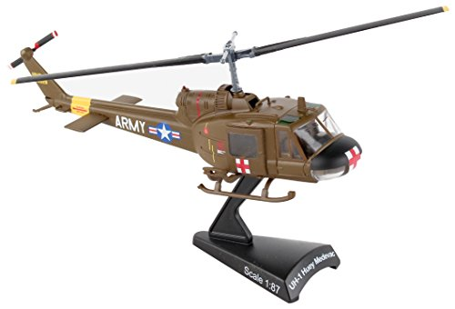 Daron Worldwide Trading Postage Stamp UH-1 Huey MEDEVAC US Army Vehicle (1/87 Scale)