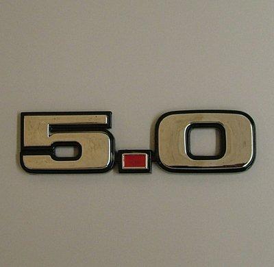 Speed 2155151 Mustang 5.0 Chrome Emblem Sticker 79-93 (Mustang Engine Decals)