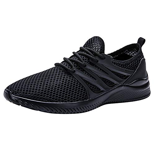 Nomeni Fashion Men's Breathable Mesh Upper Running Shoes Wild Sports Shoes Outdoor Non-Slip Flat Light Leisure Sneakers -
