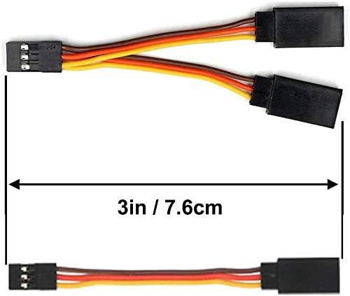 3 Pines JR 1 a 2 Y YUNIQUE ESPAGNE /® Juego de 6 Cables de extensi/ón para Radio de Coche Macho y Hembra Cable de 75 mm 75 mm Conector JR para Drones y helic/ópteros de Coche
