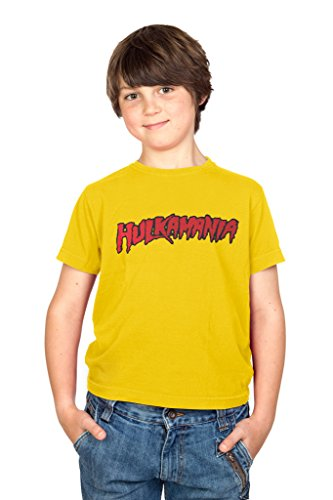 Artbox Hulkamania Yellow T-shirt (Youth Small)