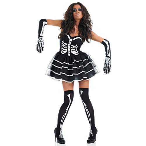 Create A Gypsy Halloween Costume (Slocyclub Women's Black Dancing Skeleton Costume Halloween Party Suit Black XL US 12-14 )