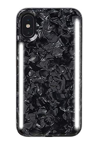 promo code 07ceb f885b LuMee Duo Phone Case, Pearl Black | Front & Back LED Lighting, Variable  Dimmer | Shock Absorption, Bumper Case, Selfie Phone Case | iPhone X/iPhone  Xs