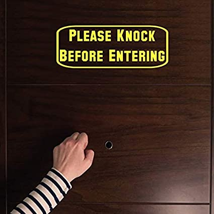 Amazoncom Celycasy Sign Please Knock Before Entering Vinyl Decal
